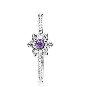 Pandora Forget Me Not Purple Flower Ring